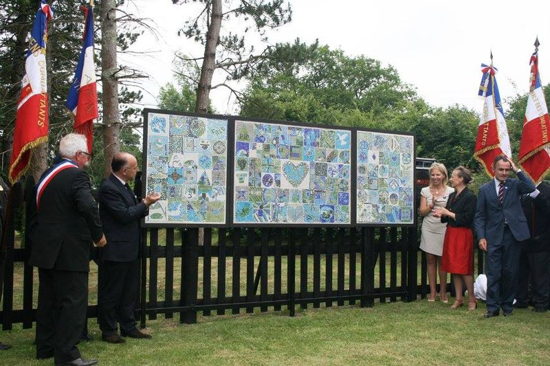 Unveiling of the Mosaic of Peace 14Jun14
