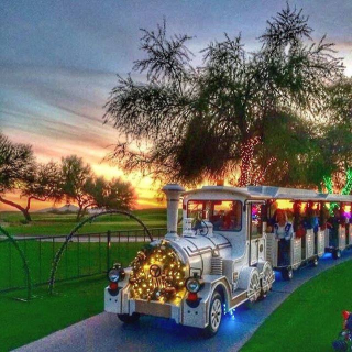 Princess Express on Lagoon lights path