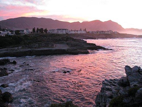 Morning sunrise taken from Oceans 11 -- Hermanus, South Africa
