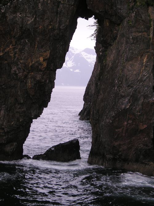 3 hole rock, Kenai pennisula -- Alaska