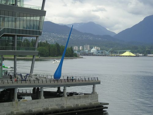Blue Raindrop near Vancouver Convetion Center -- Vancouver, Canada
