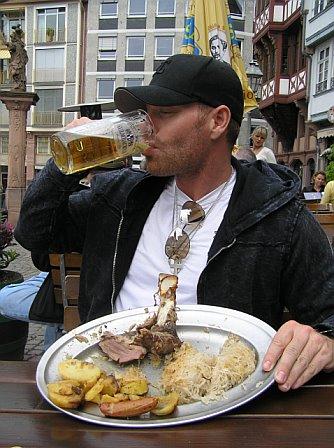 Good German Meal -- Frankfurt, Germany