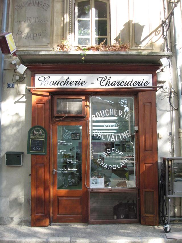 Butcher Shop --St. Remy, France