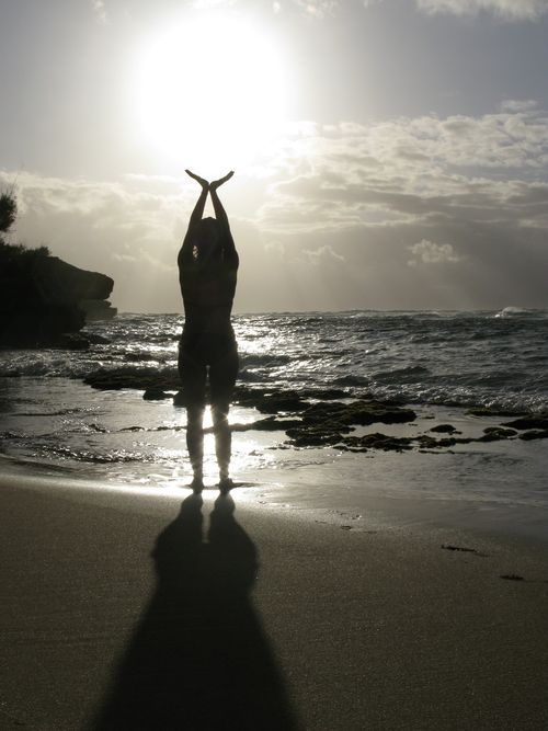 "Kauai, Hawaii -- ""Holding the sun"""