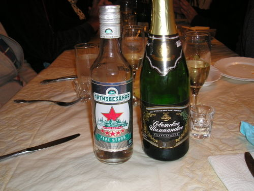 Russian Vodka and Champagne -- St. Petersburg, Russia
