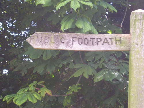 Public Footpath -- Sutton-on-Trent, England
