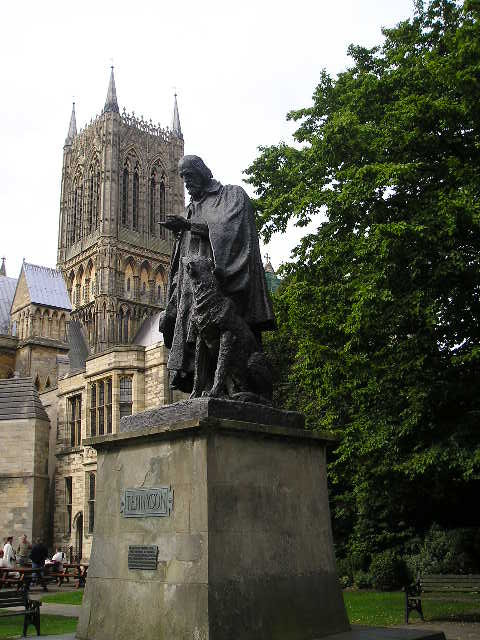 Statue of Alfred, Lord Tennyson -- Lincoln, England