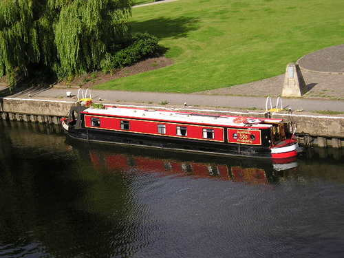 House Boat on River Trent -- Newark, England