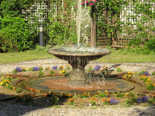 Europa Hotel fountain -- Crawley, England