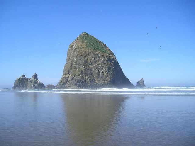 Haystack Rock at Cannon Beach -- Oregon